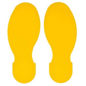 "Brady 104409 Floor Marking Tape, 10"" x 3.5"" Foot Print , Yellow"