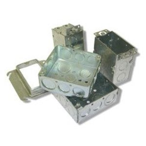 """Steel City 52171-3/4-CN 4"""" Square Box, Welded, 2-1/8"""" Deep, 3/4"""" Knockouts"""