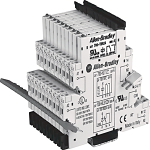 Allen-Bradley 700-HLT2U2 Terminal Block Relay, 1P, 6A, 220-240V AC/DC, Spring Clamp, Terminals