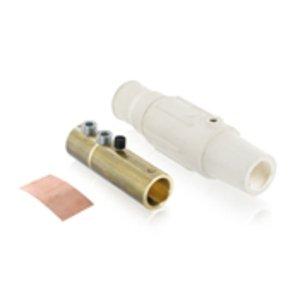 Leviton 17D24-W Female, Plug, Cam-Type, Double Set Screw, 350-500 MCM, White