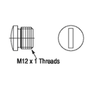 Allen-Bradley 1485A-M12 Cap, Sealing, M12, DC Micro, Plastic, External Thread, DeviceNet