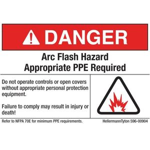 HellermannTyton 596-00904 Arc Flash Label