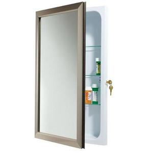 Broan 625N244SNCL Locking Medicine Cabinet Satin Nickel
