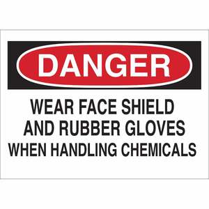 25223 CHEMICAL & HAZD MATERIALS SIGN