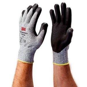 3M CGM-CR Comfort Grip Gloves, Cut Resistant, Medium, Gray
