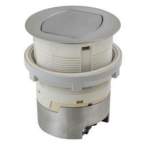 Hubbell-Wiring Kellems RCT201ALU 15A KIT KTCN CNTR RCPT FLUSH ALUM