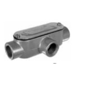 "Topaz T1CG Conduit Body, Type: T, 1/2"", Cover/Gasket, Aluminum"