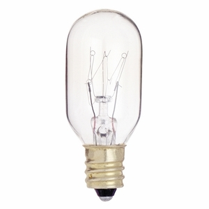 Satco S3907 Miniature Incandescent Lamp, T8, 25W, 130V, Clear