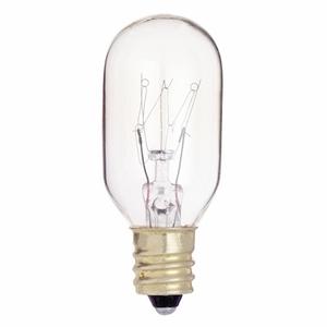 Satco S3907 Miniature Incandescent Lamp, T8, 25W, 130V, Clear