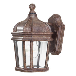 Minka Lighting 8690-61 Wall Lantern, Outdoor, 1-Light, 100W, Vintage Rust