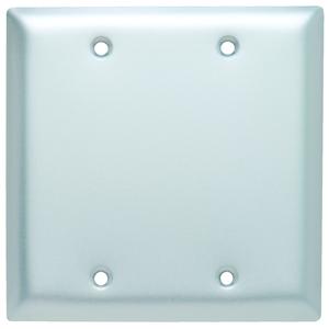 Hubbell-Wiring Kellems SA23 WALLPLATE 2-G, BLANK, ALUM