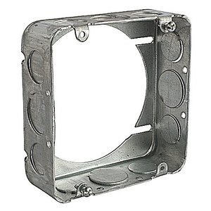 "Steel City 5-SS-EXT-SPL 4-11/16"" Square Extension Ring, 1-1/2"" Deep, Drawn, 1/2 & 3/4"" Knockouts"