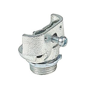 "Thomas & Betts 291-TB AC/Flex Connector, Duplex Clamp, Size: 1/2"", Malleable Iron"