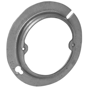 """Hubbell-Raco 737 4"""" Octagon Box Cover, 1/2"""" Raised, Ears 2-3/4"""" Centers, Steel"""