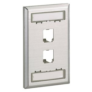 CFPL2SY CLASSIC STAINLESS FACEPLATE 2P
