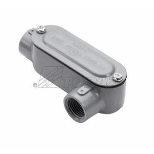 """Topaz LL8CG Conduit Body With Cover and Gasket, Type LL, 3"""", Aluminum"""
