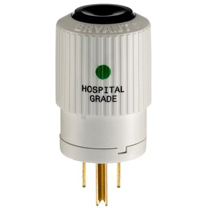 Hubbell-Bryant BRY8266NP PLUG HG 15A 125V 5-15P B/W