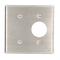 84085-40 S.S. WALLPLT 2G BLNK/RECPT