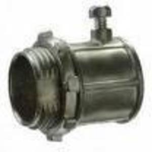Cooper Crouse-Hinds 150S 1/2 inch Malleable Iron; Set-Screw Straight Connector- Insulated