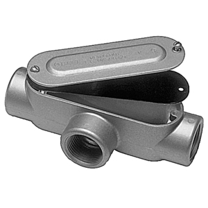 "Red Dot DAT-2-CG Conduit Body, Type: T, Size: 3/4"", Cover/Gasket, Aluminum"