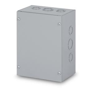 "Austin Electrical Enclosures AB-12126GSB Enclosure, Screw Cover, NEMA 3/12, 12 x 12 x 6"", Steel"