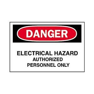 Brady 84066 Electrical Hazard Sign