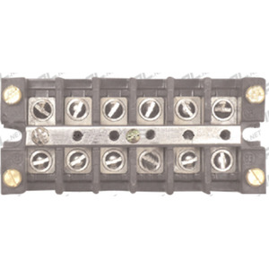 GE Industrial EB25B06C Terminal Strip, 6-Pole, 30A, 600V, Wire Range: 10 - 18 AWG