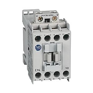 Allen-Bradley 100-C16D300 Contactor, IEC, 16A, 4P, 120VAC Coil, 3NO/1NC