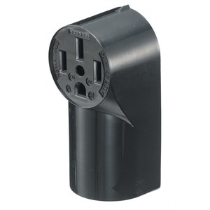 Hubbell-Wiring Kellems RR430 Surface Mount Receptacle, 30A, 125/250V, Black