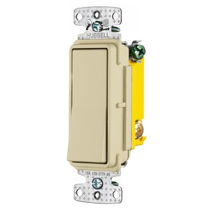 Hubbell-Wiring Kellems RSD115I Single-Pole Decora Switch, 15A, 120/277VAC, Ivory