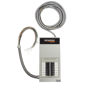 Generac RTG10EZA1 Generator, Automatic Transfer Switch, Load Center, 50A, 10 Circuit