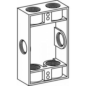 "Orbit Industries EXB75-6 Extension Box, Weatherproof, 1-Gang 1"" Deep"