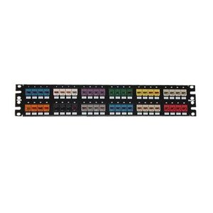 Panduit CPP48FMWBLY Patch Panel, Mini-Com, High Density, 48 Port, 2RMU, Stainless Steel