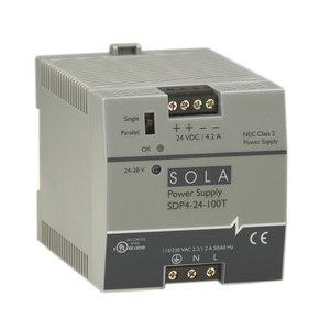 Sola Hevi-Duty SDP4-24-100RT 100W 24V DIN PLASTIC 115/230V