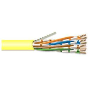 Commodity Cables 6CMP234BY Category 6 Cable, 23 AWG, 4 Pair, CMP, Yellow, 1000'