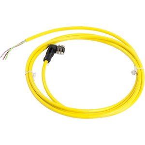 """Square D XZCPV1965L2 Connection Cable, Pre-Wired, Elbowed, 1/2"""" 20UNF, 3 Pins, 2m, PVC"""
