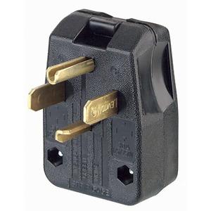 Leviton 275-E 30/50A Commercial Straight Blade Plug, Black