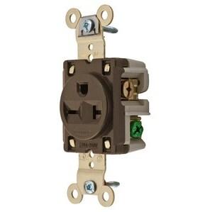 Hubbell-Kellems IG5461 SGL RCPT, IG, 20A 250V,