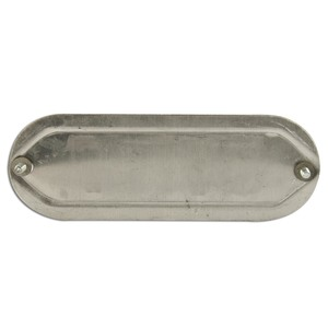 "Mulberry Metal 11713 1-1/4"" to 1-1/2"", Blank Conduit Fitting Cover, Aluminum"