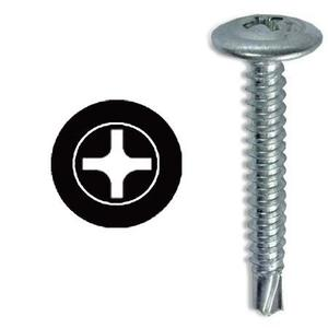 "Dottie TEKW834 Self-Drilling Screw, #8 x 3/4"", Steel, Wafer Head"