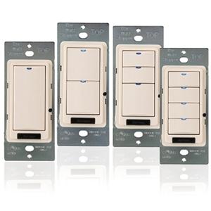 Wattstopper LMSW-103-W Digital Switch, 3-Button, Infrared, White