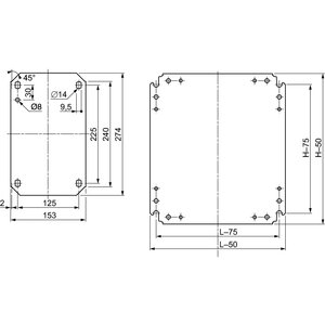 Square D NSYMM128 SQD NSYMM128 METAL PLAIN CHASSIS