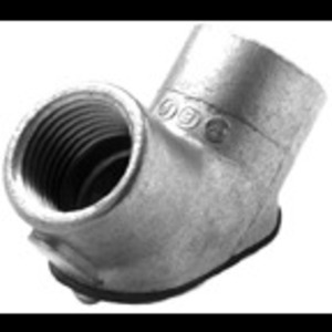 "Bridgeport Fittings 82-DC EMT Pulling Elbow, Rigid, 3/4"", Zinc Die Cast"