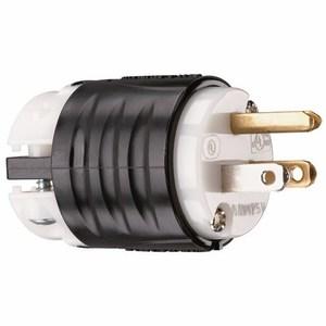 Pass & Seymour PS5266-X STR BLD PLUG 3W 15A 125V B&W
