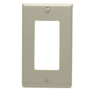 Leviton 80401-NT Decora Wallplate, 1-Gang, Nylon, Lt. Almond