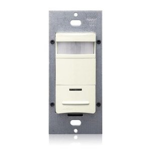Leviton ODS10-IDT PIR Occupancy Sensor/Switch, Light Almond