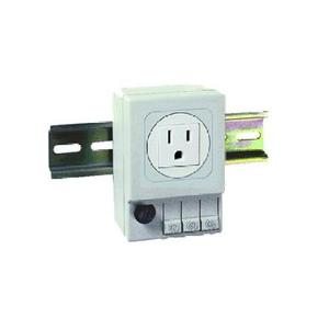 nVent Hoffman ADINP120A DIN Mt Outlet 120Vac Gray