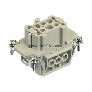 Harting 09330062701 Female Insert, Size 6B, Screw Terminal, 6 Contacts, 16A, 500V