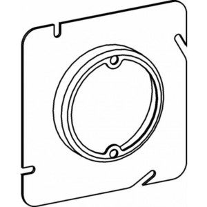 "Orbit Industries 53075 4-11/16"" Square Fixture Cover, Mud Ring, 3/4"" Raised, Drawn"