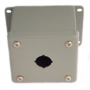 nVent Hoffman E1PBGSS Enclosure, Pilot Device, 22.5 mm, 1 Hole, Stainless Steel, Type 4X